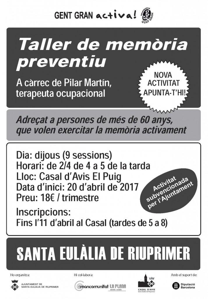 Cartell_Taller de Memòria preventiu_Santa Eulàlia_abr17